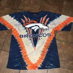 Men's Broncos Tie-Dyed Tee